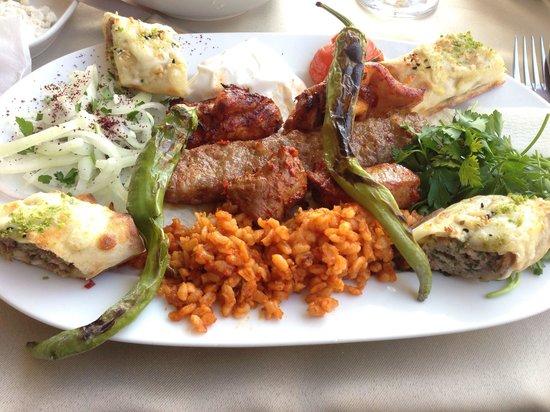 Antepli Et Lokantasi & Tatli : Mixed meat plate. Kebob and lamb cubes were my favorite!