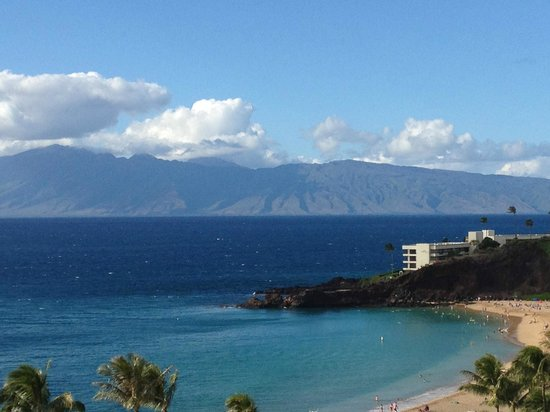 Aston at The Whaler on Kaanapali Beach: View of Black Rock from the balcony of unit 1124