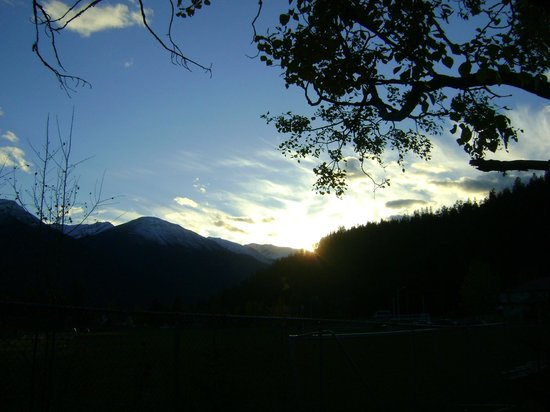 Jasper Discovery Trail: coucher de soleil