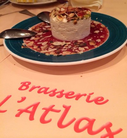 L'Atlas: Really good dessert - Nougat Glacé.