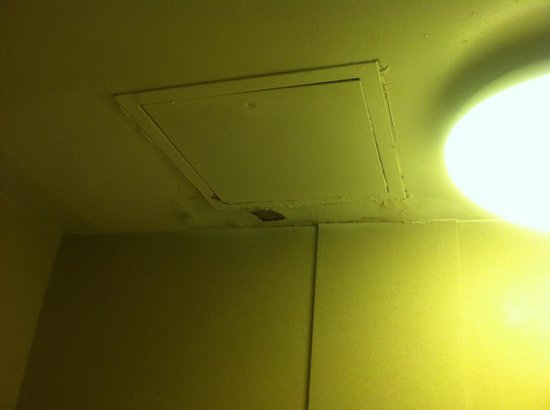 Fredericksburg Hospitality House and Conf Center: Bathroom ceiling...