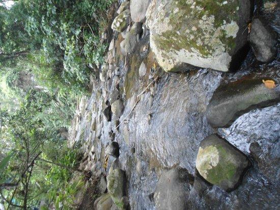 Chales Refugio da Agua Branca: cachoeira nos fundos