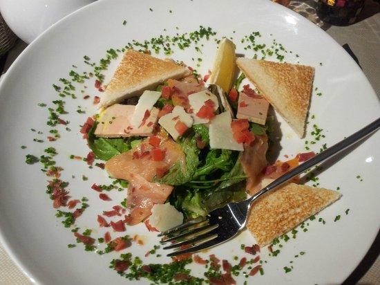Cote Resto : Assiette de foie gras et de saumon fumé