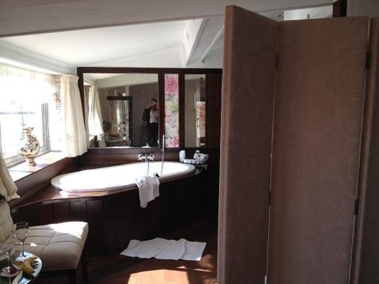 Chateau de la Chevre d'Or : room divider for bathroom