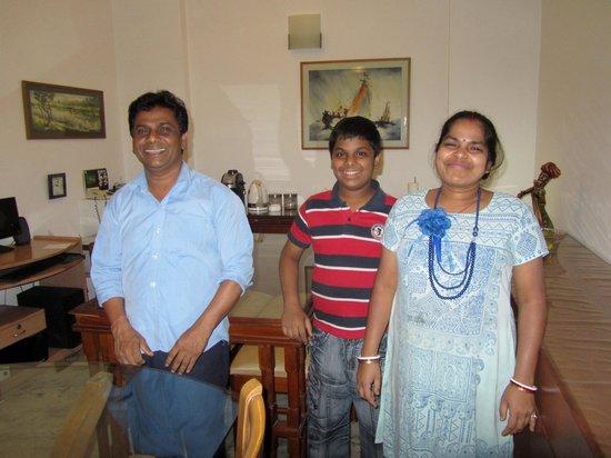 BnB Chrysalis: Swapan, Kusum and their son Manav