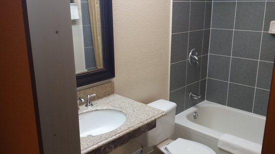 Economy Inn: bathroom