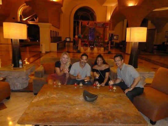 Velas Vallarta: Birthday cocktails in the lobby