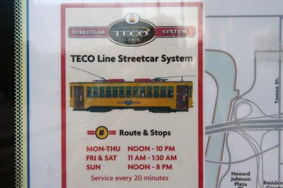 TECO Line Streetcar System : Fahrplan