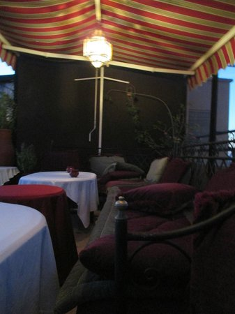 Amani Hotel Appart: The cosy terrace
