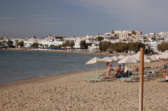 Fikas Hotel: Naxos town beach