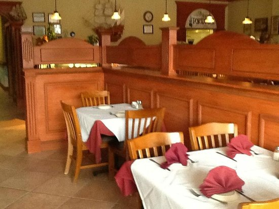The Original Portuguese Grill : Well-appointed dining room.