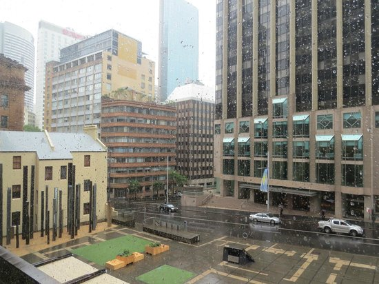 Museum of Sydney: View from the Cube on a rainy day