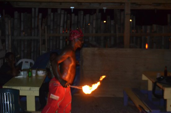 Mr. X's Shiggidy Shack Beach Bar : Fireman!