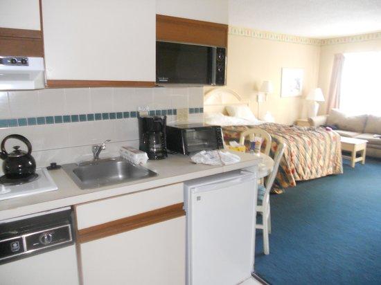The Enclave Hotel & Suites: Kitchenette/room shot