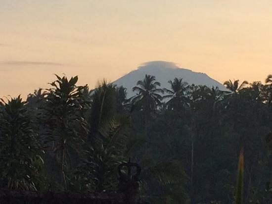 Alam Sari: blick auf den Mountain Agung vom Hotelzimmer