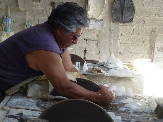 La Ruta de la Sal: Onyx-Sägerei in Zapotitlan