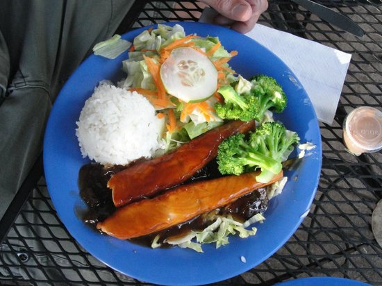 Blue Ginger Cafe : teriyaki salmon