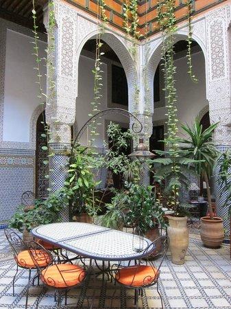 Riad Al Bartal: Arches and plants...