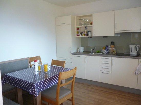 Hölbinger Alm: Kitchen/Dining Area