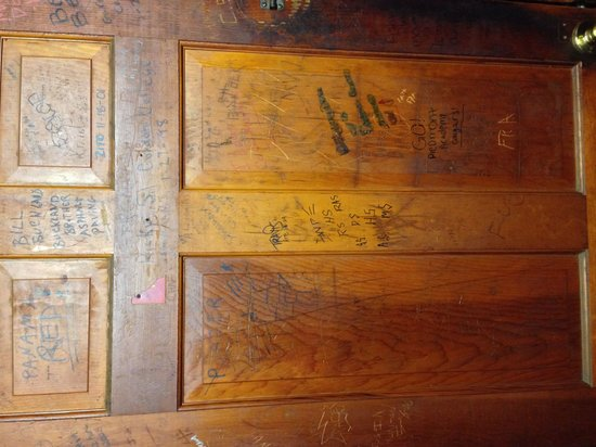 Fresh Air Bar-B-Que: The back of the men's door