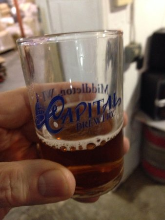 Capital Brewery: Glass is part of tour