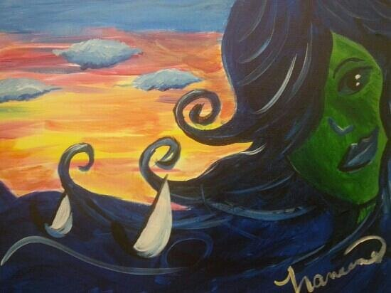 Painting With a Twist: this was my first painting. .ever. Lisa made it so easy! !