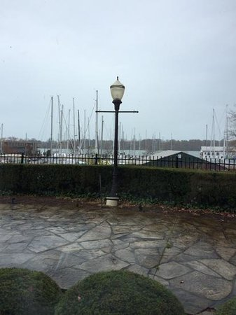 Queen's Landing: view from the dining room ( on a rainy morning)