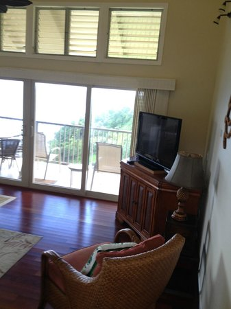 Marc at Princeville Pali Ke Kua : View of Living Room from stairs