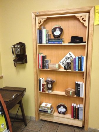 Behind the Bookcase: There really is a bookcase