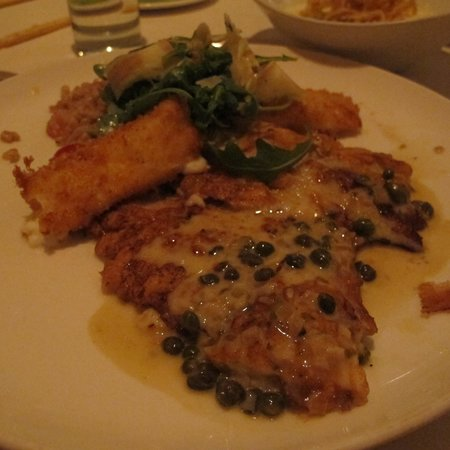 Scampo: Veal scallopini entree