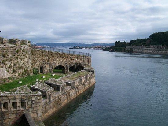 Castillo de San Felipe: vista de la ria desde el castillo