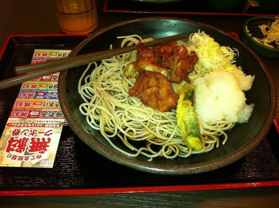 Shinjuku Washington Hotel Main: Typical soba noodles breakfast at the hotel's noodle shop at the hotel