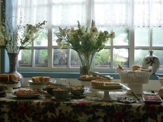 Pouso Caminho das Artes: mesa do café da manhã