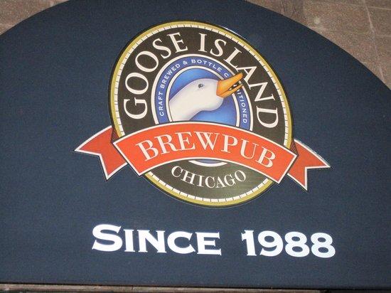 Goose Island Clybourn Brewpub: Sign