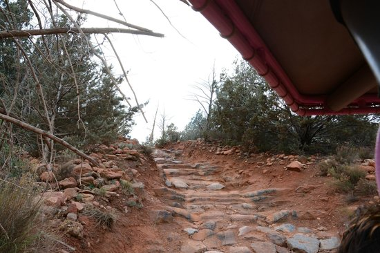 Pink Jeep Tours Sedona: Looking Back Up What Was Just Navigated