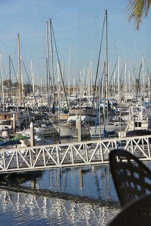 View of the harbour from the outside patio of the Blue Wave Bar & Grill  |  2051 Shelter Island
