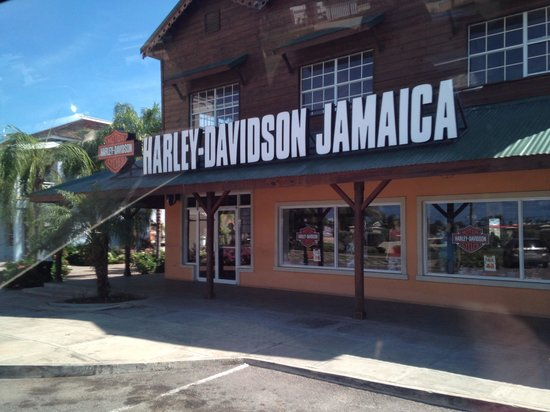 harley davidson store across street - picture of hotel riu montego