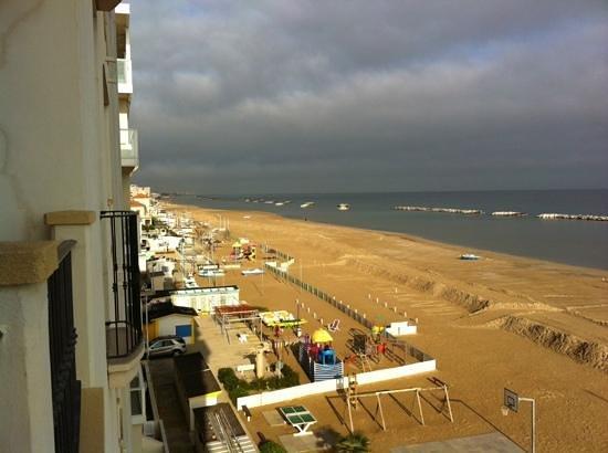 Hotel Zeus: vista desde el balcón de la habitación