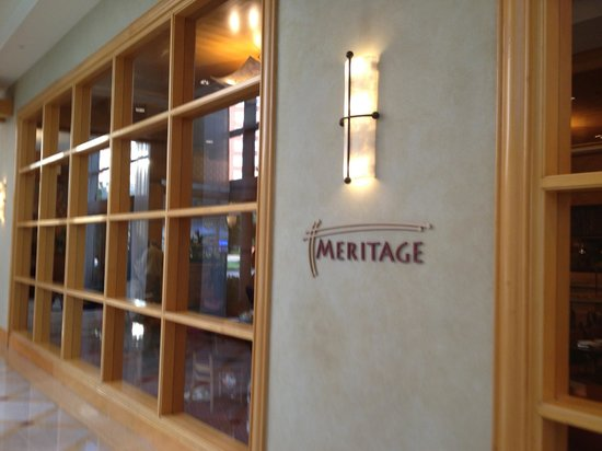 Bethesda North Marriott Hotel & Conference Center: Meritage Restaurant.  Good meal.