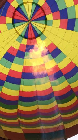 Rohr Balloons Hot Air Balloon Rides : Look up into the flame!