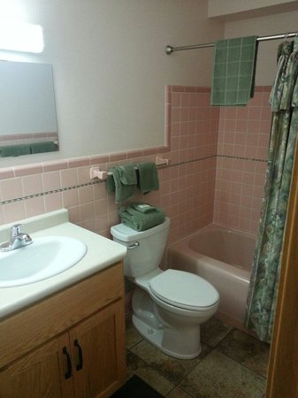 Night's Inn: Clean semi modern bathroom
