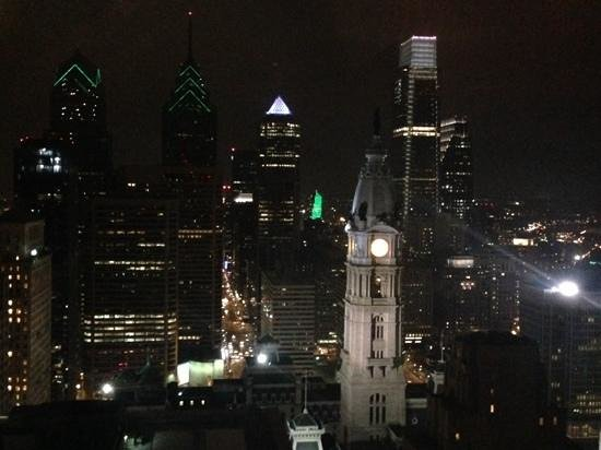 Loews Philadelphia Hotel: View from the 33rd floor lounge / restaurant