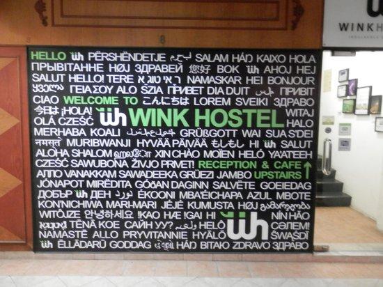 Wink Hostel: the front door