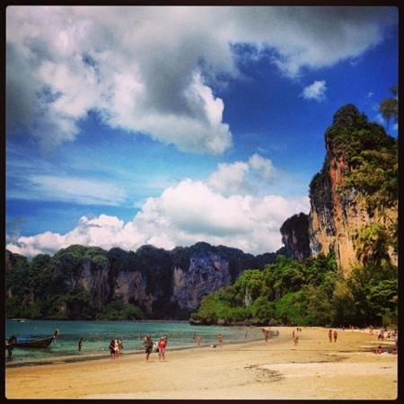 Railay Village Resort: railay beach vue du petit dejeuner