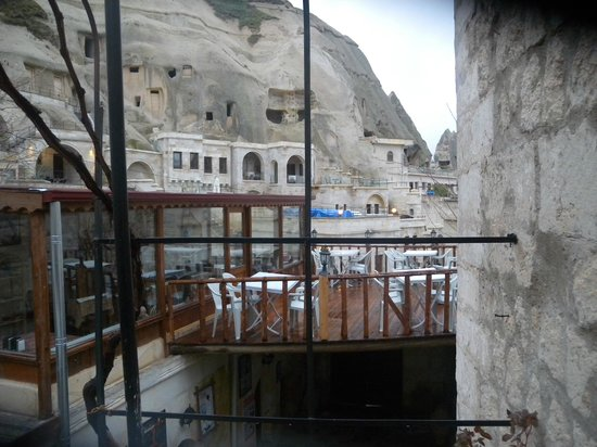 Melek Cave Hotel: View from outside the room