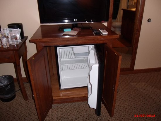 small refrigerator under tv cabinet picture of old santa fe inn rh tripadvisor com cabinet for small refrigerator and microwave BJ's Mini Refrigerator Furniture Cabinet