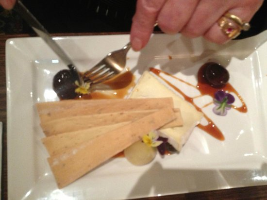 The Colonist Hotel: Nans dessert Gooey Fig & brie delish!