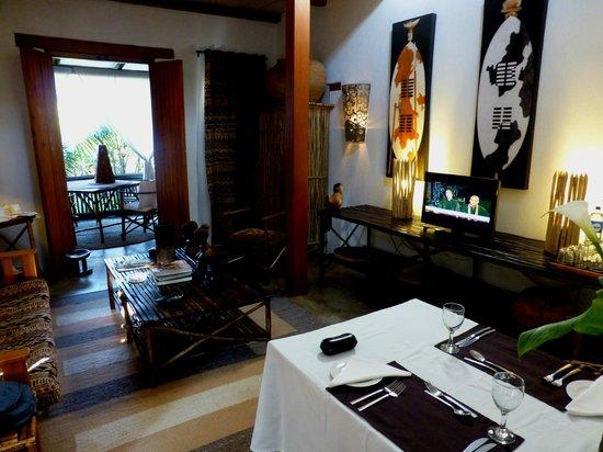 Dar Amane Guest Lodge: The suite, set for dinner.