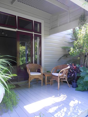 Redcliffe Homestead: Veranda of our room