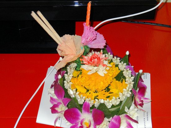 Club One Seven Phuket: Loy Krathong, flowers provided by the hotel